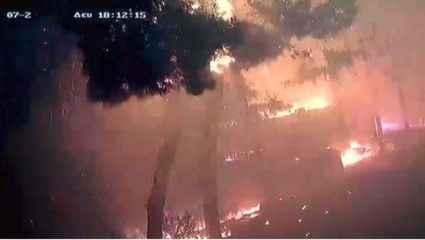 Νέο βίντεο σοκ από τις φονικές πυρκαγιές: Η φωτιά καίει το Μάτι μέσα σε λίγα λεπτά