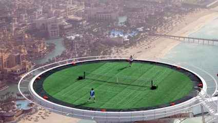Το ψηλότερο γήπεδο τένις στον κόσμο! (vid)