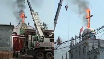 Οι Kινέζοι καίνε σταυρούς και εκκλησίες (ΒΙΝΤΕΟ)