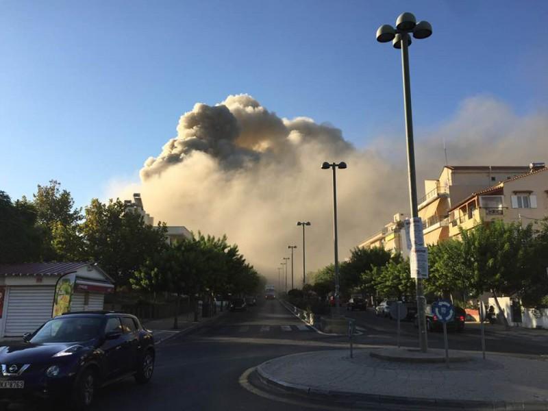 Τεράστια φωτιά στο Πανεπιστήμιο της Κρήτης - ΒΙΝΤΕΟ