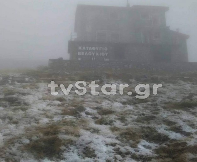 Ήρθε απότομα ο χειμώνας: Χιόνι στη Στερεά Ελλάδα! - ΦΩΤΟ