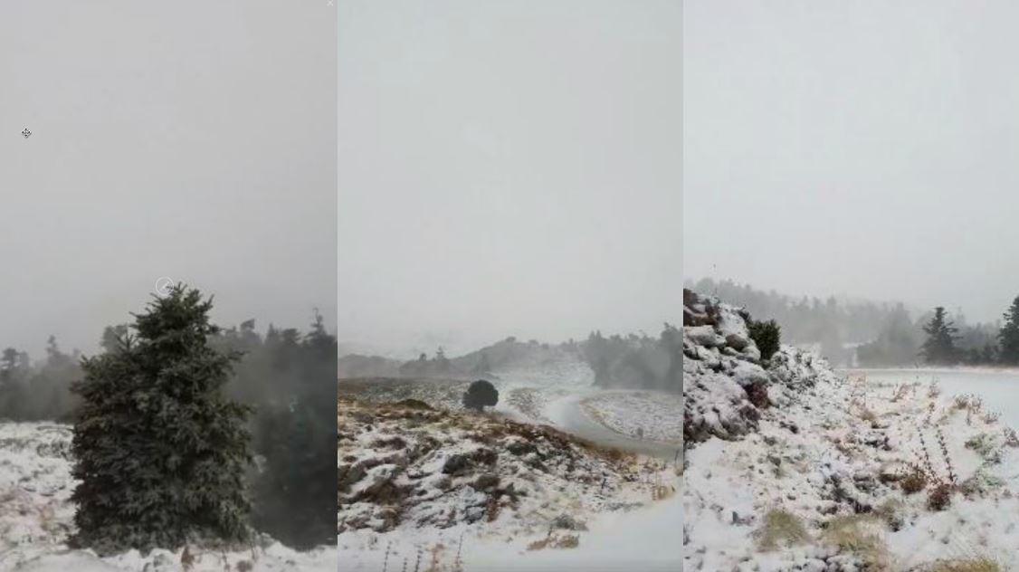 Σεπτέμβρης μήνας και χιονοθύελλα «σαρώνει» τον Παρνασσό - ΒΙΝΤΕΟ