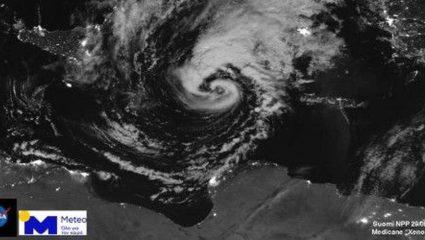 Δορυφόρος κατέγραψε τον κυκλώνα που σαρώνει την Ελλάδα από το διάστημα – ΦΩΤΟ
