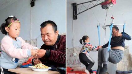 Ένα υπέροχο παιδί: μόλις 6 ετών, χωρίς μητέρα, φροντίζει τον παράλυτο πατέρα της (ΒΙΝΤΕΟ)