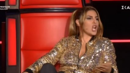 Έξαλλη η Παπαρίζου στο «The Voice»! – Δείτε γιατί – ΒΙΝΤΕΟ