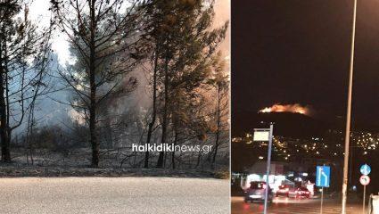 Ανεξέλεγκτη μαίνεται η φωτιά στη Σιθωνία Χαλκιδικής – Εκκενώνεται ο Κάμπος (ΦΩΤΟ)