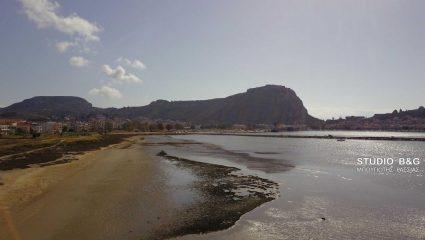 Εξαφανίστηκε η θάλασσα στο Ναύπλιο! (ΒΙΝΤΕΟ)