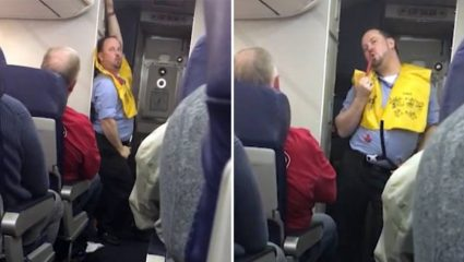Αεροσυνοδός δείχνει τα μέτρα ασφαλείας με… pole dancing (ΒΙΝΤΕΟ)