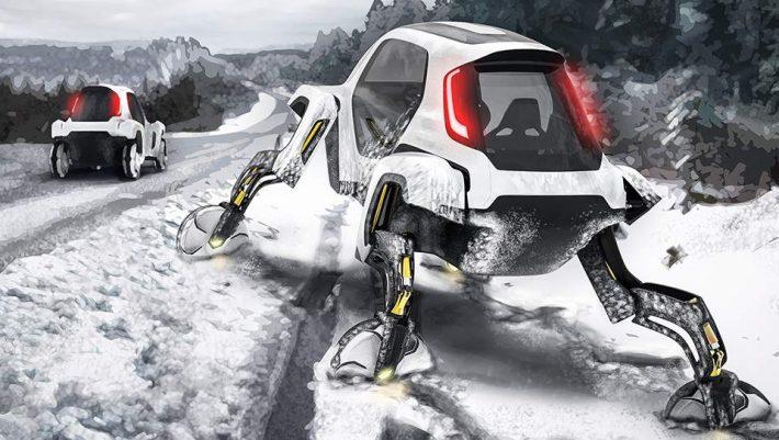 Σκηνή από το μέλλον: Το πρώτο αυτοκίνητο με... πόδια - ΒΙΝΤΕΟ