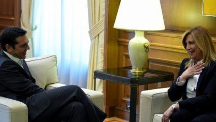 Τσίπρας και Γεννηματά συναντήθηκαν εκτός Βουλής και τα σενάρια «φούντωσαν»