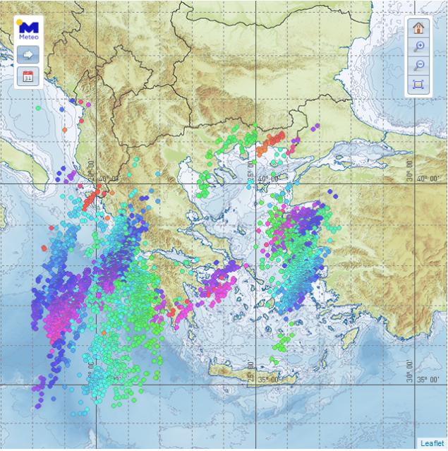«Πνίγηκε» η Ηπειρος από τον Φοίβο, πάνω από 4.000 κεραυνοί σε Ιόνιο και Αιγαίο