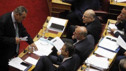Η ΝΔ ζητά εισαγγελική παρέμβαση για όσα είπε ο Καμμένος στη Βουλή