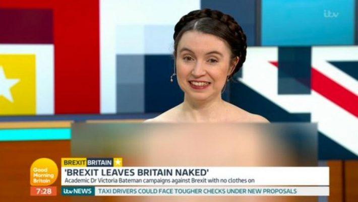 «Το Brexit μας αφήνει γυμνούς» είπε... ολόγυμνη στην τηλεόραση Βρετανίδα οικονομολόγος! (ΒΙΝΤΕΟ)