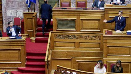 «Διαξιφισμοί» Τσίπρα-Μητσοτάκη για Παυλόπουλο και Σύνταγμα