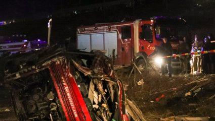 Διήμερο εθνικό πένθος στη Β. Μακεδονία για τους 14 νεκρούς από την ανατροπή λεωφορείου