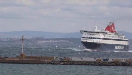 Μάγκας καπετάνιος έκανε αριστοτεχνική μανούβρα με ανέμους 8 μποφόρ – ΒΙΝΤΕΟ