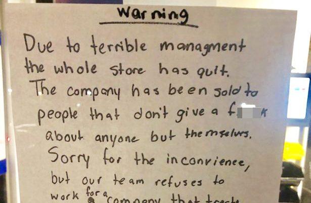 Απίστευτο σημείωμα ομαδικής παραίτησης σε εργοδότες: «Άντε γ@@θείτε όλοι σας»