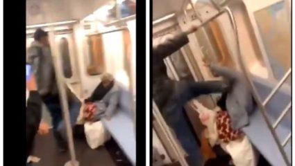 Βίντεο – σοκ από άγρια επίθεση σε ηλικιωμένη στο μετρό