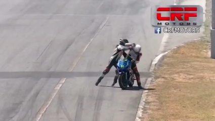 Απίθανο σκηνικό στην Κόστα Ρίκα: Γροθιές σε αγώνα μοτοσυκλέτας (ΒΙΝΤΕΟ)