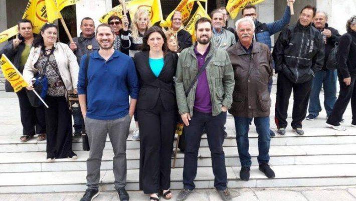 Οι επικεφαλής του «Δεν πληρώνω» στο ευρωψηφοδέλτιο της Κωνσταντοπούλου