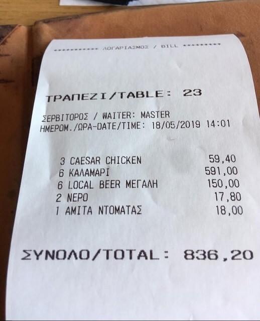 «Επιδρομή» εφοριακών στο εστιατόριο της Μυκόνου με τα «χρυσά» καλαμαράκια!