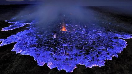 Το μπλε ηφαίστειο- Πού βρίσκεται και πως εξηγείται το φαινόμενο