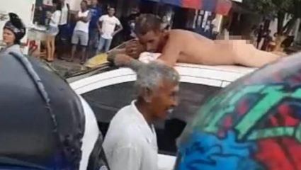 Οι απιστίες πληρώνονται: Τον περιέφερε γυμνό στους δρόμους με το αυτοκίνητο, επειδή την απάτησε (ΒΙΝΤΕΟ)