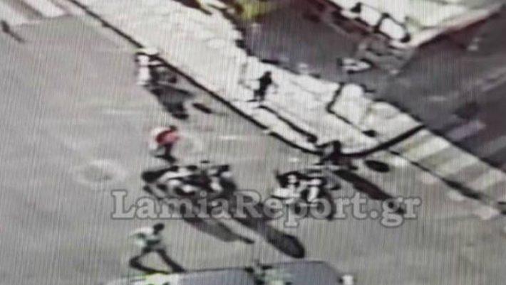 Βίντεο-σοκ από τροχαίο στην Λαμία!