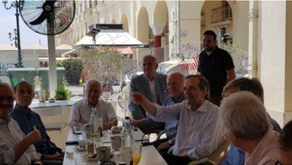 Χαλλλλαρός καφές στην Θεσσαλονίκη για τον Αντώνη Σαμαρά