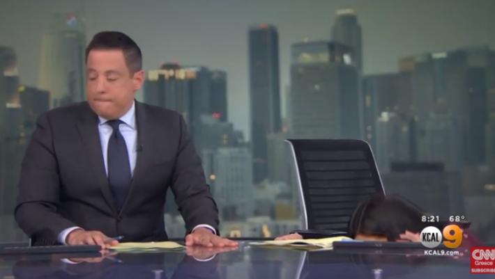 Τρόμος με τον σεισμό στην Καλιφόρνια - Viral βίντεο με την αντίδραση δύο δημοσιογράφων