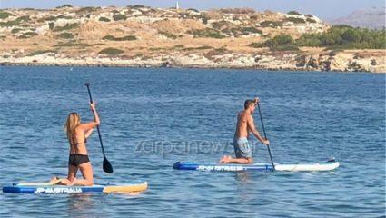 Κυριάκος και Μαρέβα στα Χανιά για θαλάσσια σπορ! – ΦΩΤΟ
