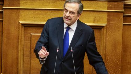 Ψήφισε Σακελλαροπούλου χωρίς να αναφέρει το όνομά της ο Σαμαράς (vid)
