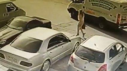 «Αυτή είναι η δράστις με το βιτριόλι»: Η μαυροφορεμένη γυναίκα «προδόθηκε» από κάμερα ασφαλείας