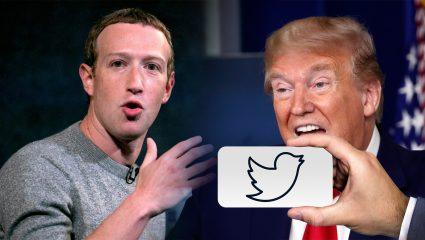 «Πόλεμος» Faceobook – Τwitter για τα ποστ Τραμπ