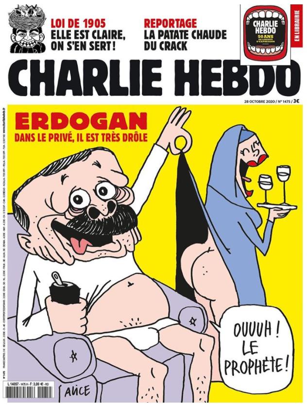 Έξαλλοι οι Τούρκοι: Η γαλλική επίθεση στον Σουλτάνο από το Charlie Hedbo