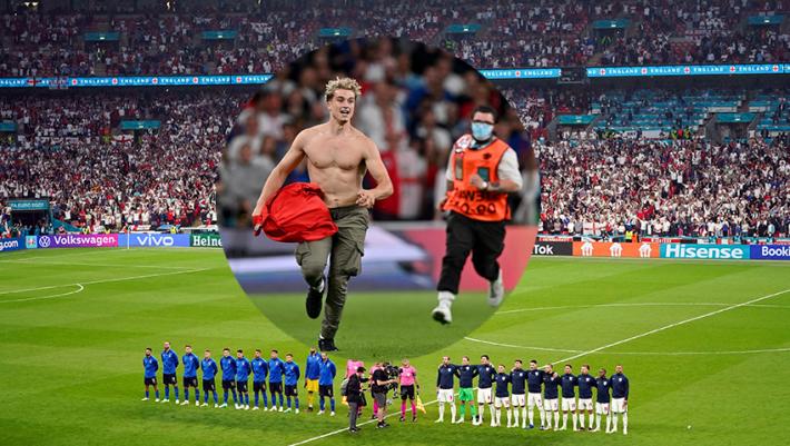 Euro 2020: Αποκάλυψη - Τι έκανε ο εισβολέας στον τελικό και δεν το έδειξαν οι κάμερες